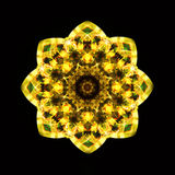 Kaleidoscope yellow Royalty Free Stock Photography