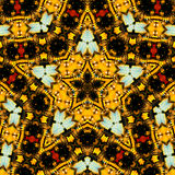 kaleidoscopeformstjärna Arkivfoto