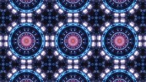 Kaleidoscopemandala elétrico da multi cor ornamento abstrato com cores azuis e cor-de-rosa ilustração royalty free