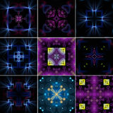Kaleidoscopes set Royalty Free Stock Photos