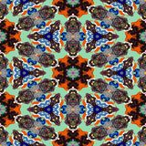 Kaleidoscopic άνευ ραφής παραγμένη σύσταση μισθώσεων σημείων Στοκ φωτογραφίες με δικαίωμα ελεύθερης χρήσης