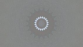 Kaleidoscopic επίδραση στα πιάτα με τις μικρές τρύπες ελεύθερη απεικόνιση δικαιώματος