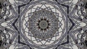 Kaleidoscopic επίδραση των δομών γεφυρών μετάλλων διανυσματική απεικόνιση