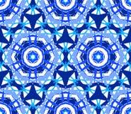 Kaleidoscopic διακόσμηση λουλουδιών δαντελλών μπλε Στοκ εικόνα με δικαίωμα ελεύθερης χρήσης