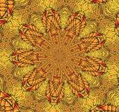 Kaleidoscopic κίτρινο και μαύρο σχέδιο Στοκ εικόνες με δικαίωμα ελεύθερης χρήσης