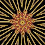 Kaleidoscopic κίτρινο και μαύρο σχέδιο Στοκ φωτογραφία με δικαίωμα ελεύθερης χρήσης