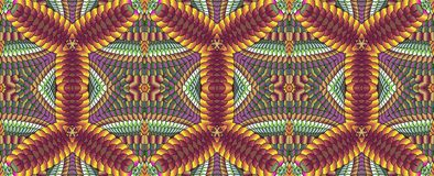 Kaleidoscopic καφετί άνευ ραφής σχέδιο Στοκ εικόνα με δικαίωμα ελεύθερης χρήσης