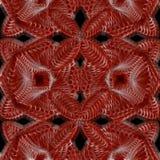 Kaleidoscopic καφετί και vinous άνευ ραφής σχέδιο Στοκ Εικόνα