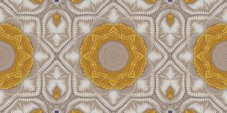 Kaleidoscopic μπεζ και χρυσό σχέδιο Στοκ φωτογραφία με δικαίωμα ελεύθερης χρήσης