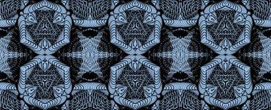 Kaleidoscopic μπλε άνευ ραφής σχέδιο Στοκ εικόνες με δικαίωμα ελεύθερης χρήσης
