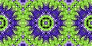 Kaleidoscopic μπλε και πράσινο άνευ ραφής σχέδιο Στοκ φωτογραφίες με δικαίωμα ελεύθερης χρήσης