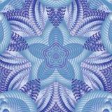 Kaleidoscopic μπλε σχέδιο Στοκ φωτογραφία με δικαίωμα ελεύθερης χρήσης