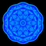 Kaleidoscopic μπλε σχέδιο, mandala Στοκ εικόνα με δικαίωμα ελεύθερης χρήσης