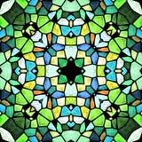 Kaleidoscopic πολύχρωμη άνευ ραφής αφηρημένη σύσταση mandala στοκ εικόνες