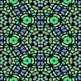 Kaleidoscopic πολύχρωμη άνευ ραφής αφηρημένη σύσταση mandala ελεύθερη απεικόνιση δικαιώματος