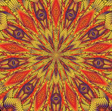 Kaleidoscopic πορτοκαλί σχέδιο Στοκ Εικόνες