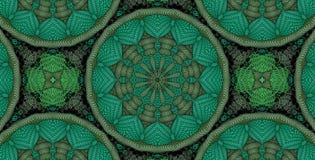 Kaleidoscopic πράσινο σχέδιο Στοκ Φωτογραφία