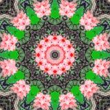 Kaleidoscopic συνθετικό υπόβαθρο τέχνης κύκλων, σύνθετη γεωμετρία Στοκ Εικόνα