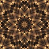 Kaleidoscopic συνθετικό υπόβαθρο τέχνης κύκλων, σύνθετη γεωμετρία Στοκ Εικόνες