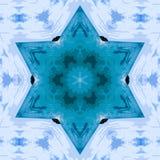 Kaleidoscopic συνθετικό υπόβαθρο τέχνης κύκλων, σύνθετη γεωμετρία Στοκ Φωτογραφία