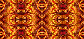 Kaleidoscopic σχέδια στους κίτρινους τόνους, εικόνα ράστερ για τα des Στοκ φωτογραφία με δικαίωμα ελεύθερης χρήσης