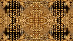 Kaleidoscopic σχέδια στους κίτρινους τόνους, εικόνα ράστερ για τα des Στοκ Εικόνα