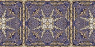 Kaleidoscopic σχέδια στους πορφυρούς τόνους, εικόνα ράστερ για τα des Στοκ Φωτογραφία
