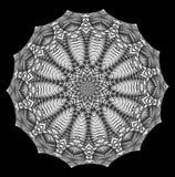 Kaleidoscopic σχέδιο, mandala Στοκ εικόνα με δικαίωμα ελεύθερης χρήσης