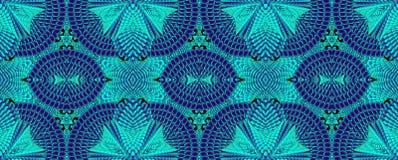 Kaleidoscopic τυρκουάζ άνευ ραφής σχέδιο Στοκ Φωτογραφία