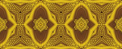 Kaleidoscopic χρυσό άνευ ραφής σχέδιο Στοκ Εικόνα
