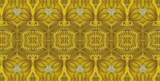 Kaleidoscopic χρυσό σχέδιο Στοκ φωτογραφία με δικαίωμα ελεύθερης χρήσης