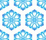 Kaleidoscopic белая голубая предпосылка цветка Стоковое Изображение