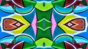 Kaleidoscopic влияние красочного граффити иллюстрация штока