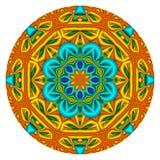 kaleidoscopic мандала Стоковые Изображения RF