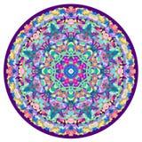 Kaleidoscopic орнамент мандалы Стоковое Изображение