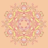 Kaleidoscopic флористическая картина, мандала Стоковая Фотография