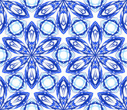 Kaleidoscopic цветок сини картины Стоковое Фото