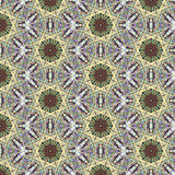 Kaleidoscopic abstract seamless pattern stock photography