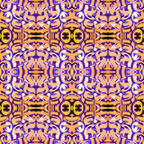 Kaleidoscopic abstract tribal seamless pattern. Modern stylish texture. Repeating geometric tiles. Textile fabric print. Wrapping. Paper. Abstract continuous vector illustration