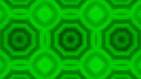 Kaleidoscopic animation background. VJ Fractal green kaleidoscopic background. Background motion with fractal design. Disco spectrum lights concert spot bulb stock video footage
