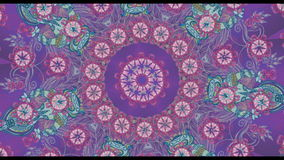Kaleidoscopic animation stock video footage