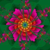 kaleidoscopic blomma Arkivbilder