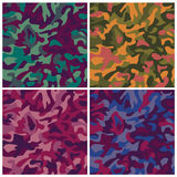 Kaleidoscopic Camouflage. A classic seamless camouflage pattern in four military colorways. Repeat size is 6 Royalty Free Stock Image