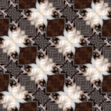 Kaleidoscopic cat seamless generated hires texture Stock Photo