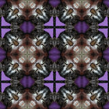 Kaleidoscopic cat seamless generated hires texture Stock Image