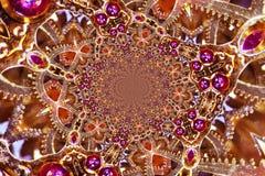 Kaleidoscopic Clockwork. Kaleidoscopic Composition of a Clockwork Royalty Free Stock Photo