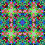 Kaleidoscopic design abstract ornament seamless texture, psyched Stock Photo