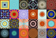 Kaleidoscopic Designs. Collection of abstract kaleidoscopic designs Royalty Free Stock Photo