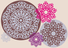 Kaleidoscopic floral pattern Royalty Free Stock Photography