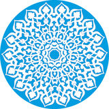 Kaleidoscopic floral pattern vector illustration